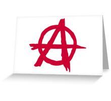 Anarchy Symbol Greeting Card