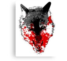 Angry Blood Wolf Canvas Print