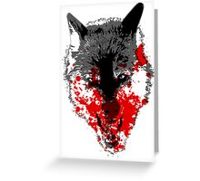 Angry Blood Wolf Greeting Card