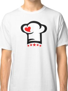 Chef Cook Hat, Cooking, Kitchen, Hotel, Restaurant Classic T-Shirt