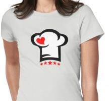 Chef Cook Hat, Cooking, Kitchen, Hotel, Restaurant Womens Fitted T-Shirt