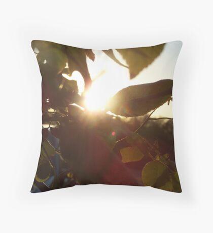 Rose Bush Dark Voyeur Throw Pillow