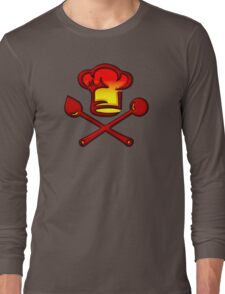 Chef Cook, Hat, Cooking, Kitchen, Hotel, Restaurant Long Sleeve T-Shirt