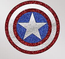 Captain America Glitter by EAMS