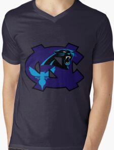 UNC Hornets Panthers Mens V-Neck T-Shirt