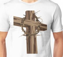 Cross and Crown of Thorns Unisex T-Shirt