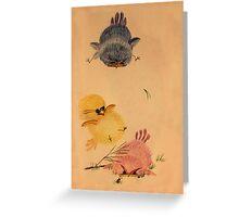 Three Bouncy Chicks Greeting Card