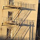 Fire Escape and Shadows, Chelsea, New York City by lenspiro