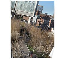 Aerial View of High Line, New York City's Elevated Garden and Park  Poster