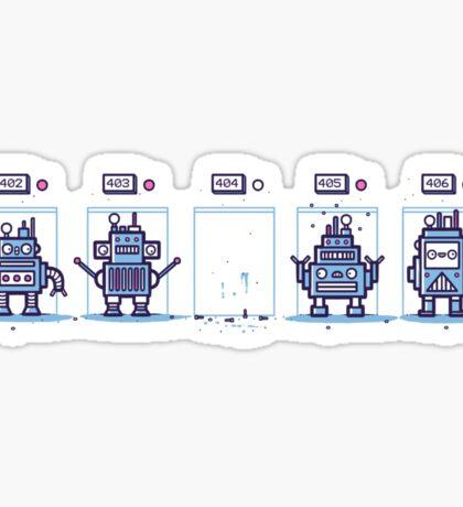 Robot not found Sticker