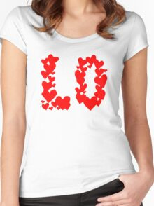 LOVE Couple, Heart, I Love You, Pair, Valentine` Day Women's Fitted Scoop T-Shirt