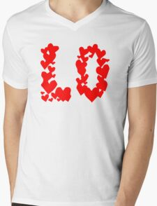 LOVE Couple, Heart, I Love You, Pair, Valentine` Day Mens V-Neck T-Shirt