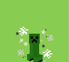 Minecraft Creeper Phone Case by goyangi