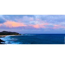 Sunset at Sandy Beach Photographic Print