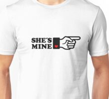 SHE´S MINE, Couple, Arrow, Heart, I Love You, Pair, Valentine` Day Unisex T-Shirt