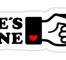 SHE´S MINE, Couple, Arrow, Heart, I Love You, Pair, Valentine` Day Sticker
