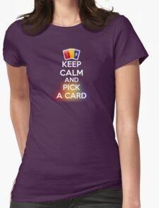 KEEP CALM AND PICK A CARD No Image Womens Fitted T-Shirt