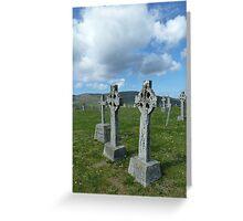 Celtic Crosses, Scotland Greeting Card