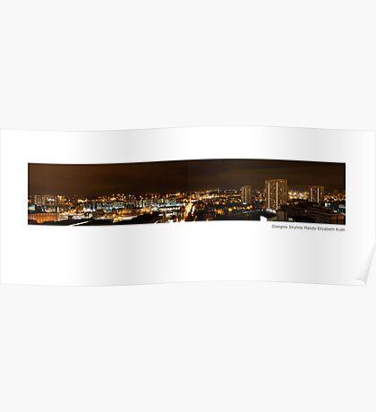 Glasgow my night light Poster