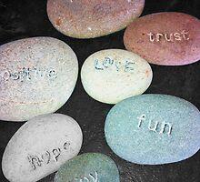 Positive Pebbles by Mandy Elizabeth  Rush