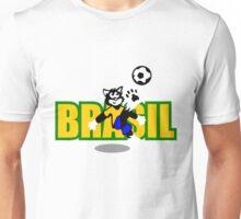 Brasil Football Cat Unisex T-Shirt