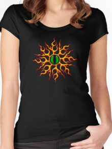 DRAGON EYE, Magic, Mystic, Fantasy Women's Fitted Scoop T-Shirt