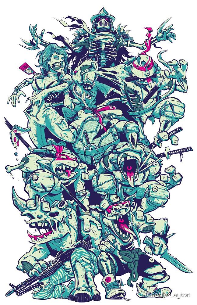 Nuclear Zombie Ninja Turtles by Charlie Layton