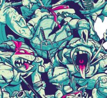 Nuclear Zombie Ninja Turtles Sticker