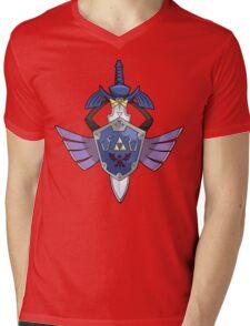 Master Sword - Hylian Shield Aegislash Mens V-Neck T-Shirt