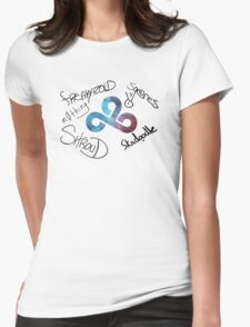 CS:GO Signed by Cloud9 CSGO Team Womens Fitted T-Shirt