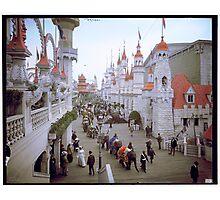 "Coney Island, New York. ""Luna Park Promenade"", ca. 1905 Photographic Print"