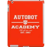 Autobot Academy (White) iPad Case/Skin