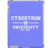 Cybertron University (White) iPad Case/Skin