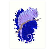 Cheshire Cat Chameleon Art Print