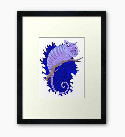 Cheshire Cat Chameleon Framed Print