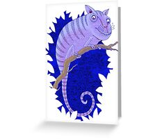 Cheshire Cat Chameleon Greeting Card