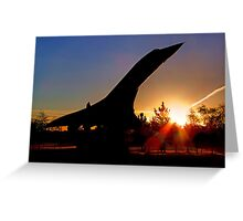 Concorde Sunrise 5 - Brooklands Greeting Card