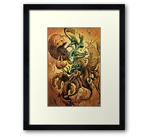 The Crackling Husk Framed Print