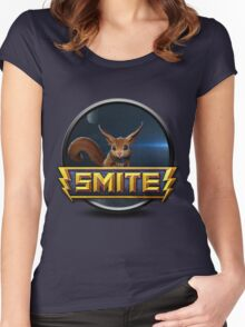 Smite Ratatoskr Logo Women's Fitted Scoop T-Shirt