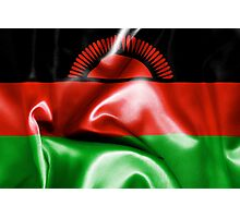 Malawi Flag Photographic Print