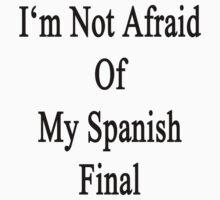 I'm Not Afraid Of My Spanish Final  by supernova23