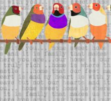 Lady Gouldian Finches Sticker