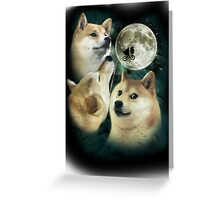 3 Moon Doges Greeting Card