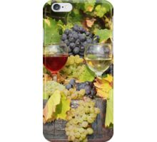 red and white wine autumn scene iPhone Case/Skin