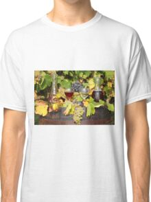 red and white wine autumn scene Classic T-Shirt
