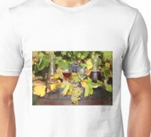 red and white wine autumn scene Unisex T-Shirt