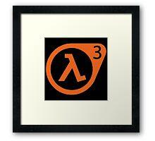 Half Life 3 Framed Print