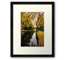 Salmon ponds tasmania , Yellow trees  Framed Print