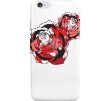 Abstract American Traditional Roses iPhone Case/Skin