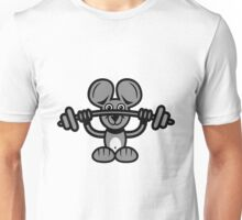 mouse sport weight lifting Unisex T-Shirt